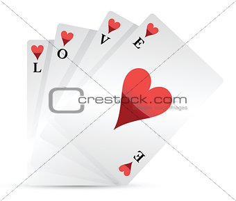 love playing cards illustration design
