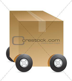 brown package car figure