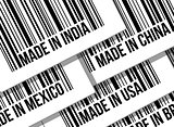 barcode, trade war, business concept