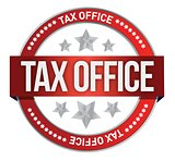 rubber stamp marked with tax office