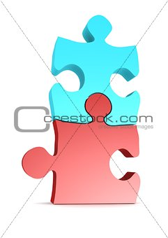 Red blue puzzles