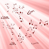 Love With Heart Shaped Musical Notes