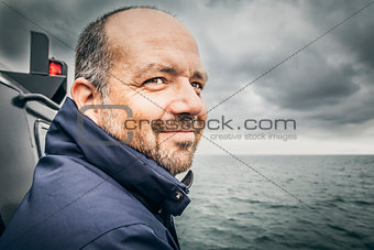 man at the bad sea