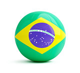 brazil flag on a soccer ball