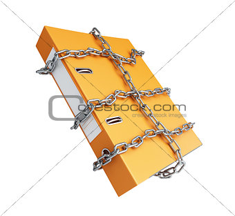chain folder on a white background