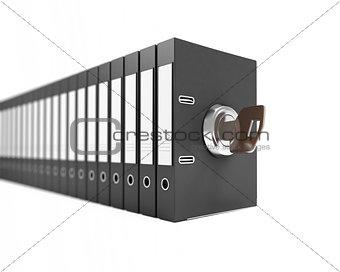 folder key on a white background