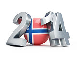 football 2014 Norway on a white background