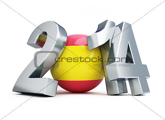 football 2014 Spain on a white background