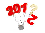 new year 2013 on a white background