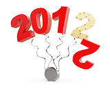 end of 2012 on a white background