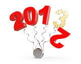 end of 2012 new year 2013