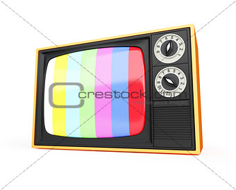 old TV on the
