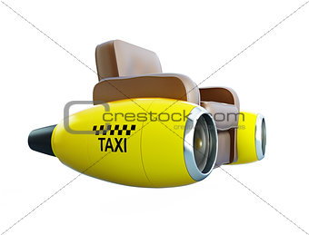 air taxi on a white background