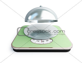 bathroom scale open tray