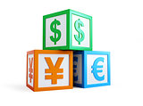 alphabet cube finance sign