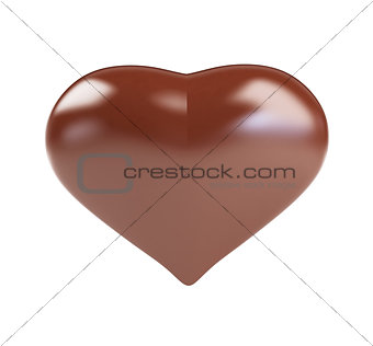 Abstract background as a chocolate heart