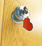 door key heart