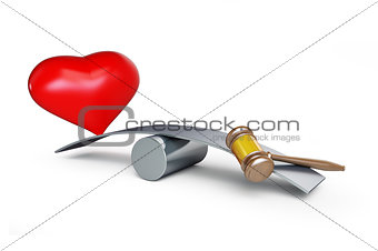 heart and gavel balances