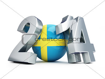 football 2014 on a white background