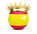 soccer ball spain gold crown