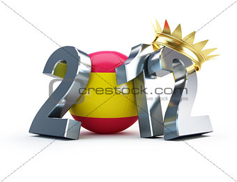 2012 soccer ball spain gold crown