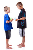 Boys with water balloons