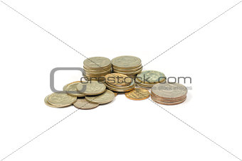 A small group of Russian coins