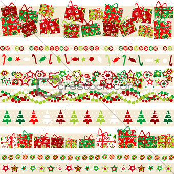 Background with Christmas theme and elements