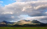 Snowdon mountain ranges panoramic view of Snowdonia national par