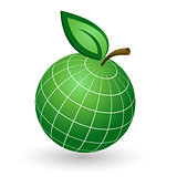 Earth Globe as Apple Symbol