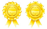 Gold winners laurel rosettes