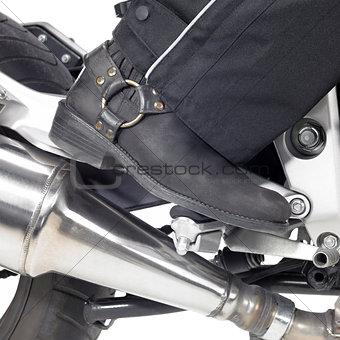 biker boot detail