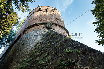 Castle in Siena, Fortification Wall Detail, Istria, Italy