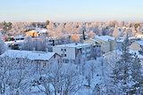 Finland. Mikkeli at sunset