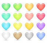 Hearts icons