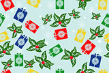 vector gifts seamless pattern