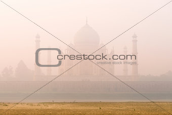 Mystic foggy Taj Mahal, India