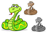 Cartoon python snake