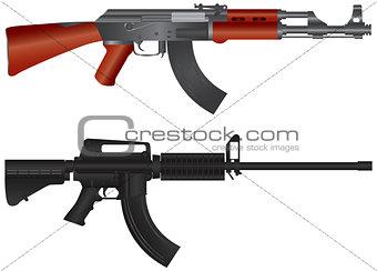 Assault Rifles Illustration