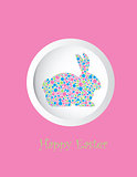 Bunny Rabbit Pastel Dots Greeting Card