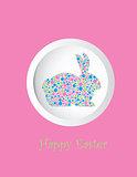Bunny Rabbit Pastel Dots Greeting Card