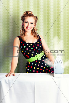 Fifties Classic Portrait Retro House Work Woman