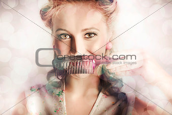 Female Beauty Salon Hairdresser Creating Hairstyle