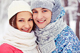 Couple in winterwear