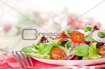 bowl of mixed salad
