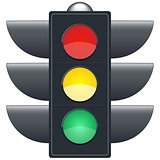 Traffic lights on white background.