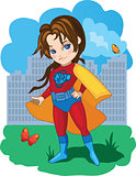 Super Girl vector illustartion