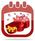 icon calendar Valentine's Day