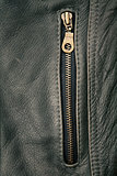 Zipper and leather