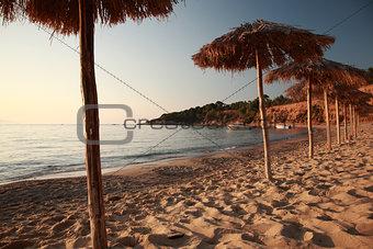 Sunset at Ag Paraskevi beach, Skaithos